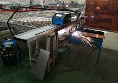 Prenosný plazmový rezací stroj CNC 100A pre plech 1 až 15 mm